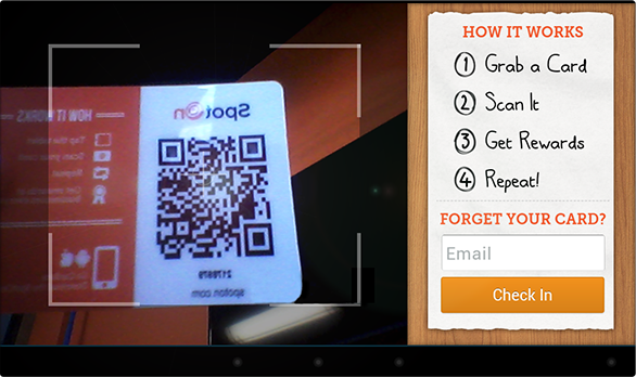 Scan Your Card Screen